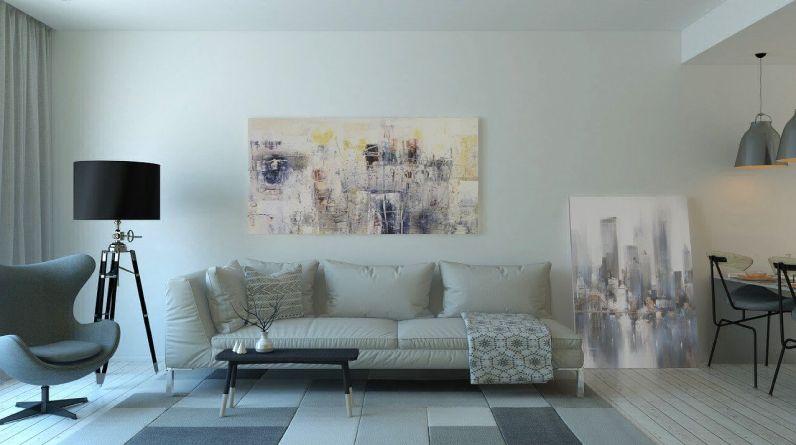 divano in pelle beige